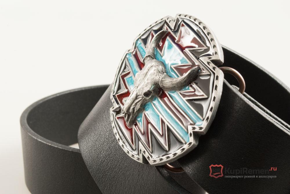 Ремень с пряжкой в виде череп буйвола сша ремень солдатский кожаный ссср купить спб