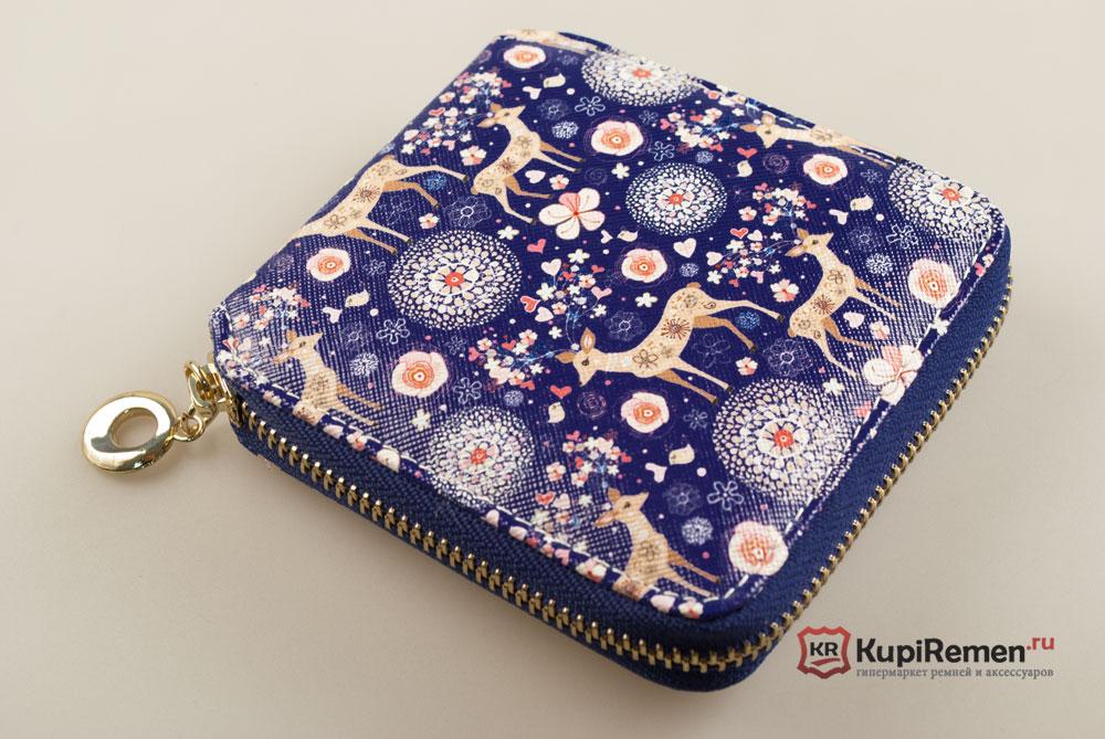 f6a50927262c Квадратный женский кошелёк на молнии MAGIC FUN, экокожа, синий ...